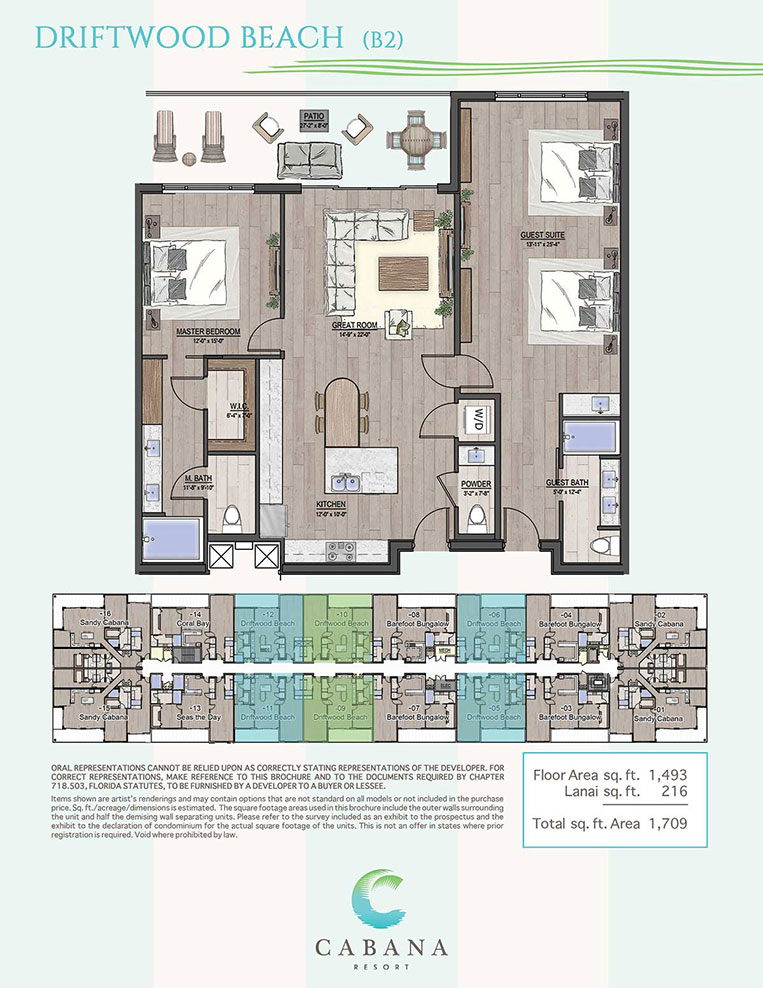 Driftwood Beach | CABANA Resort Floorplans in Bonita Springs, Florida