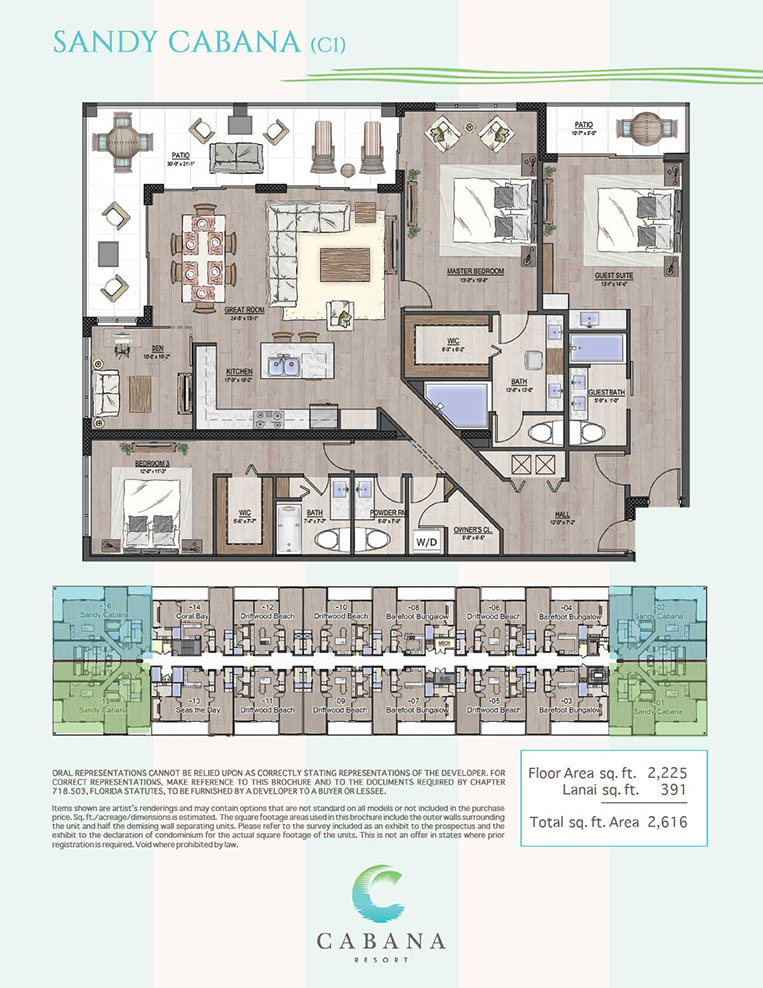 Sandy Cabana | CABANA Resort Floorplans in Bonita Springs, Florida