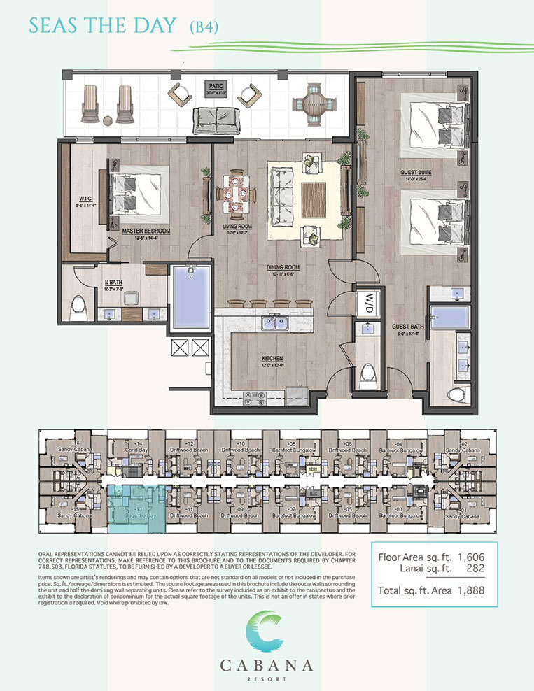 Seas The Day | CABANA Resort Floorplans in Bonita Springs, Florida